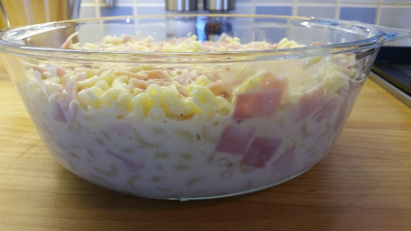 Latest reviews on Macaroni with ham and cheese